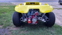 Yellow Genesis 4-Seater Dune Buggy Rear View