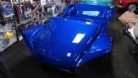 Cobalt Blue Metal Flake Nostalgia 2-Seater Dune Buggy