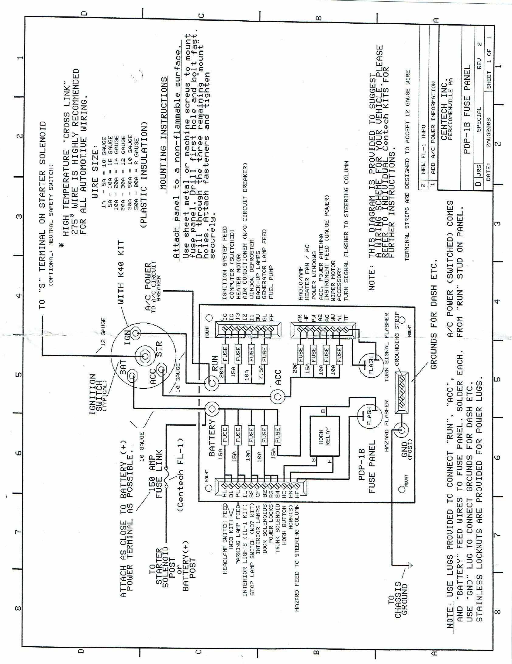 [ZSVE_7041]  Custom Fuse Panel for Dune Buggy, Sand Rail, Custom Car, Hot Rod, Kit Car | Hot Rod Fuse Panel Wiring Diagram |  | Carolina Dune Buggies