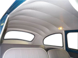 VW HEADLINER, 68-77 BLK