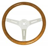 Classic Wood Steering Wheel380mm/31mm Grip 3-Bolt Hub
