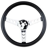 FOAM STEERING WHEEL,CHROME