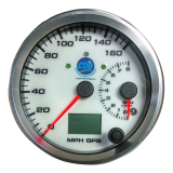 "4"" GPS Speedometer/Tachometer/Oil Press/Oil Temp/Fuel/Volts Quad Gauge Package  w/Turn Signal & High Beam Indicators"